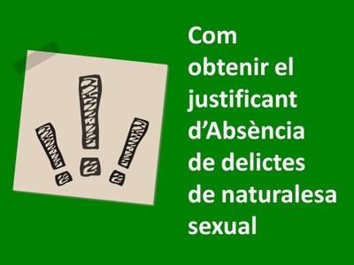 Certificat de delictes de naturalesa sexual