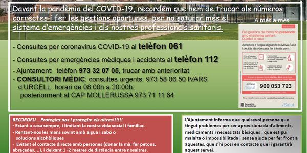 CASTELLNOU INFORMA COVID-19